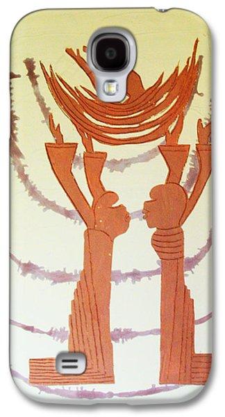 Nativity Ceramics Galaxy S4 Cases - Nativity of Jesus Galaxy S4 Case by Gloria Ssali