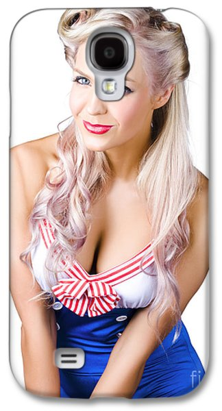 Youthful Galaxy S4 Cases - Navy pinup woman Galaxy S4 Case by Ryan Jorgensen