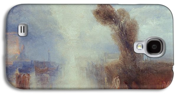 Misty Prints Galaxy S4 Cases - Neapolitan Fisher girls Surprised Bathing by Moonlight Galaxy S4 Case by Joseph Mallord William Turner
