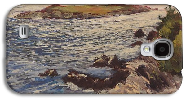 Windblown Paintings Galaxy S4 Cases - New England Coast Galaxy S4 Case by Bill Tomsa