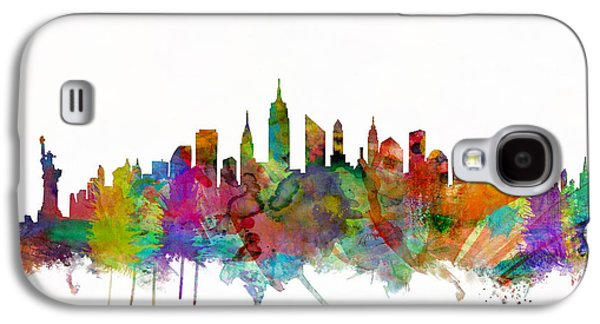 City Digital Art Galaxy S4 Cases - New York City Skyline Galaxy S4 Case by Michael Tompsett