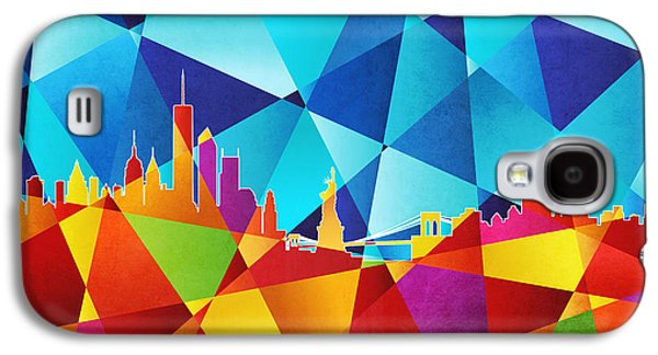 Abstract Geometric Galaxy S4 Cases - New York Skyline Galaxy S4 Case by Michael Tompsett
