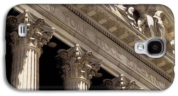 Exchange Mixed Media Galaxy S4 Cases - New York Stock Exchange Galaxy S4 Case by Jon Neidert