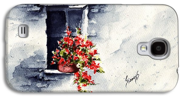 Pottery Paintings Galaxy S4 Cases - Niche With Flowers Galaxy S4 Case by Sam Sidders