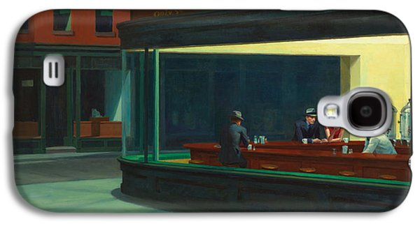 Plants Galaxy S4 Cases - Nighthawks Galaxy S4 Case by Edward Hopper