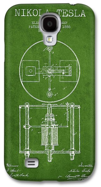 Generators Galaxy S4 Cases - Nikola Tesla Patent Drawing From 1886 - Green Galaxy S4 Case by Aged Pixel