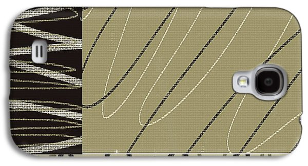 Beige Abstract Galaxy S4 Cases - No Ending Galaxy S4 Case by Lourry Legarde