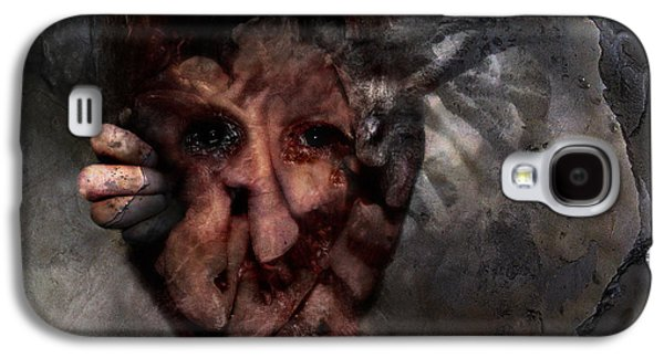 Creepy Digital Art Galaxy S4 Cases - Nobody to Play with Galaxy S4 Case by David Fox