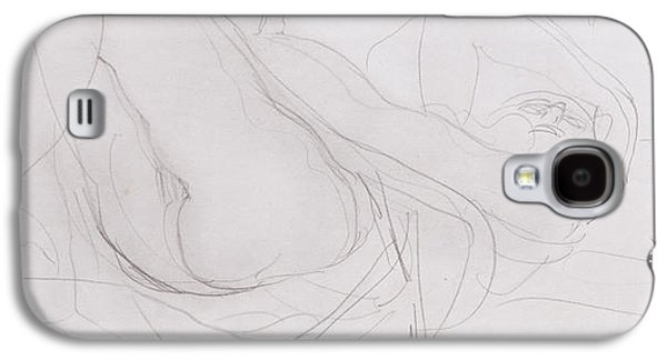 Portraiture Drawings Galaxy S4 Cases - Nude Galaxy S4 Case by Auguste Rodin