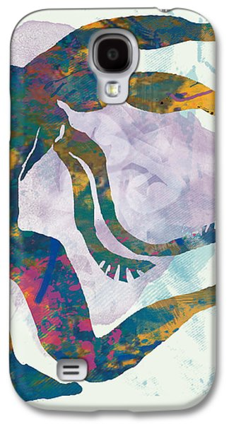 Nudes Mixed Media Galaxy S4 Cases - Nude pop art paper cut poster Galaxy S4 Case by Kim Wang
