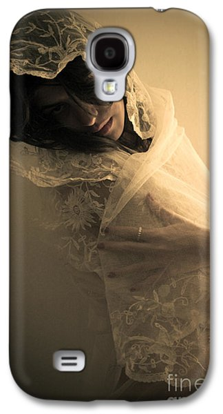 Dreamscape Galaxy S4 Cases - Nude Young Woman Covered In Lace In A Dream Sequence Galaxy S4 Case by Joe Fox
