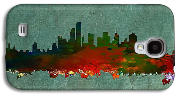 Nyc Mixed Media Galaxy S4 Cases - NYC Skyline Galaxy S4 Case by Celestial Images