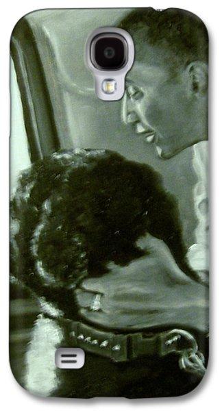Barrack Obama Galaxy S4 Cases - Obama and Bo Galaxy S4 Case by Martha Suhocke