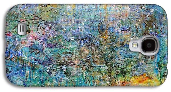 Plankton Paintings Galaxy S4 Cases - Oceanic Galaxy S4 Case by Regina Valluzzi