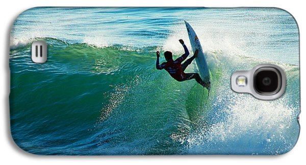 Surf Silhouette Galaxy S4 Cases - Off the Lip Galaxy S4 Case by Paul Topp