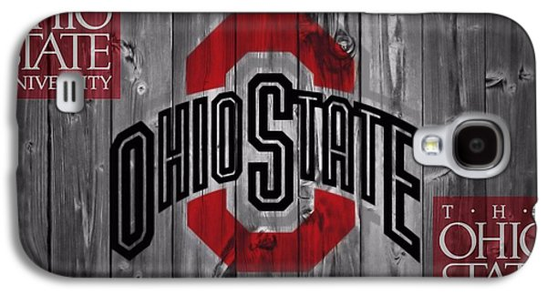 Barn Doors Galaxy S4 Cases - Ohio State Buckeyes Galaxy S4 Case by Dan Sproul