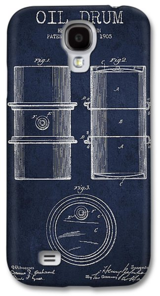 Rigs Galaxy S4 Cases - Oil Drum Patent Drawing From 1905 Galaxy S4 Case by Aged Pixel