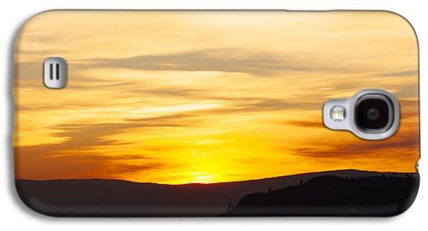 Nature Abstract Galaxy S4 Cases - Okanagan Sunrise 3 Galaxy S4 Case by Laura Tucker