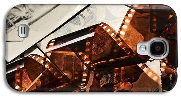 Filmstrip Galaxy S4 Cases - Old film strip and photos background Galaxy S4 Case by Michal Bednarek