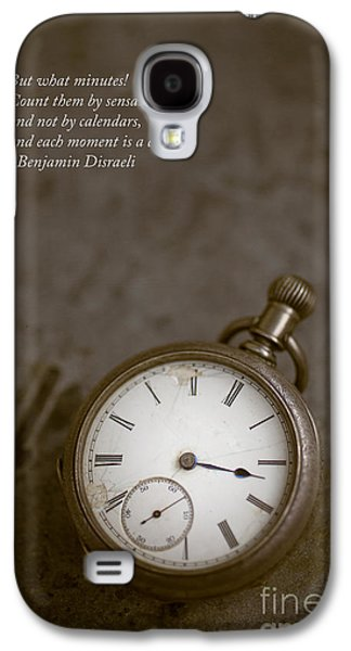 Brown Tones Galaxy S4 Cases - Old pocket watch Galaxy S4 Case by Edward Fielding