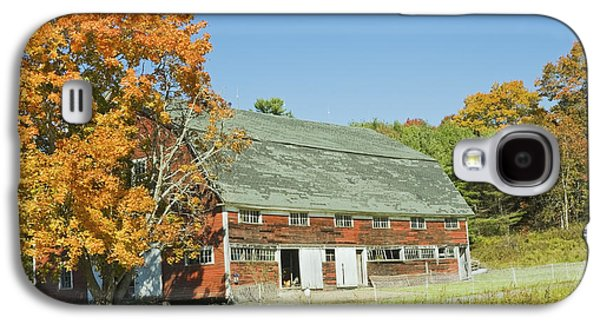 Old Country Roads Photographs Galaxy S4 Cases - Old Red Barn In Maine Galaxy S4 Case by Keith Webber Jr