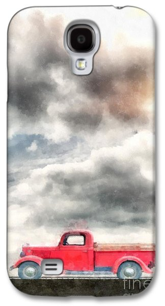 Farm Truck Galaxy S4 Cases - Old Red Ford Pickup Galaxy S4 Case by Edward Fielding