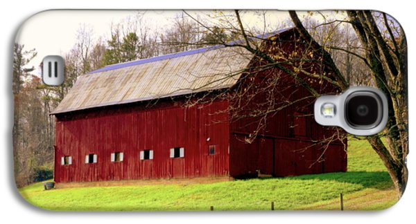 Tennessee Barn Galaxy S4 Cases - Old Red Galaxy S4 Case by Karen Wiles