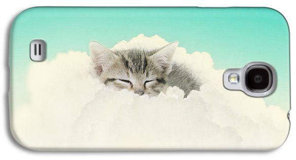 Gray Tabby Galaxy S4 Cases - On Cloud Nine Galaxy S4 Case by Amy Tyler