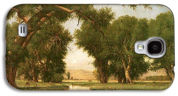 Poudre Galaxy S4 Cases - On the Cache la Poudre River Colorado Galaxy S4 Case by Thomas Worthington Whittredge