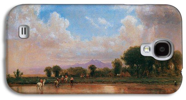 Poudre Galaxy S4 Cases - On the Plains Cache la Poudre River Galaxy S4 Case by Thomas Worthington Whittredge