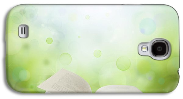 Glowing Galaxy S4 Cases - Open book Galaxy S4 Case by Les Cunliffe