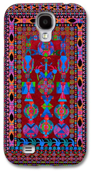 Indian Tapestries - Textiles Galaxy S4 Cases - Open Ceremony Galaxy S4 Case by Lawrence Chvotzkin