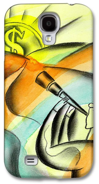 Business Paintings Galaxy S4 Cases - Opportunity Galaxy S4 Case by Leon Zernitsky