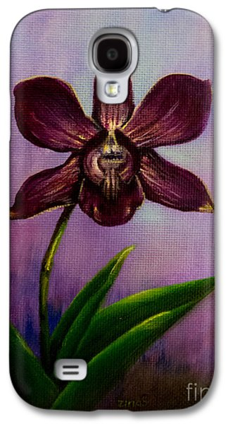 Plant Galaxy S4 Cases - Orchid Galaxy S4 Case by Zina Stromberg