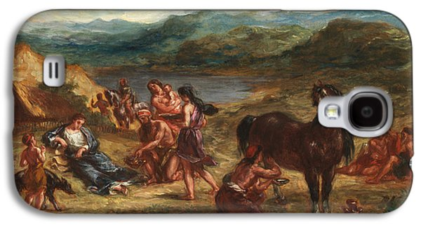 Delacroix Galaxy S4 Cases - Ovid among the Scythians Galaxy S4 Case by Eugene Delacroix