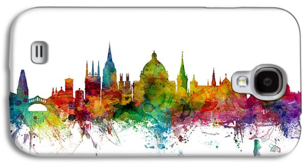 Great Britain Galaxy S4 Cases - Oxford England Skyline Galaxy S4 Case by Michael Tompsett