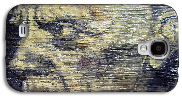Ancient Reliefs Galaxy S4 Cases - Pablo Picasso Face Portrait - Painting On The Wood Galaxy S4 Case by Nenad  Cerovic
