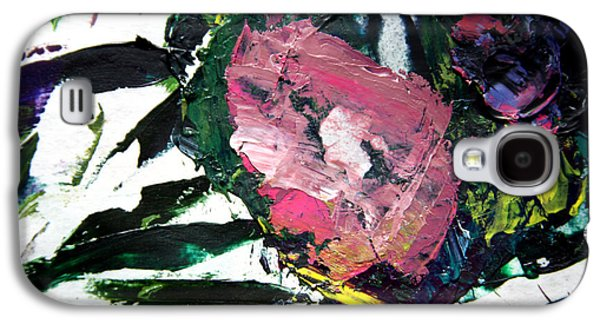 Abstractions Paintings Galaxy S4 Cases - Palette Abstraction #11 Galaxy S4 Case by John Lautermilch