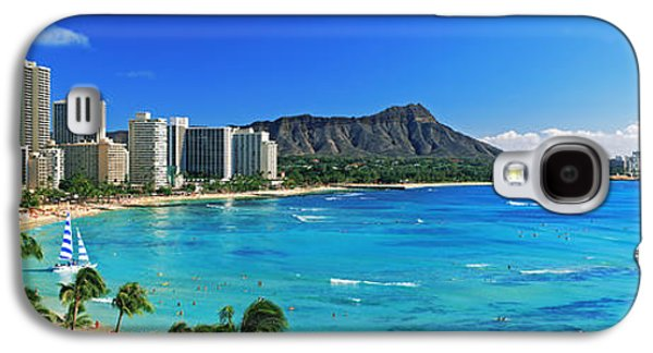 Palm Trees On The Beach, Diamond Head Galaxy S4 Case by Panoramic Images
