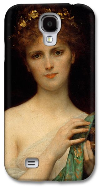 Wreath Paintings Galaxy S4 Cases - Pandora Galaxy S4 Case by Alexandre Cabanel