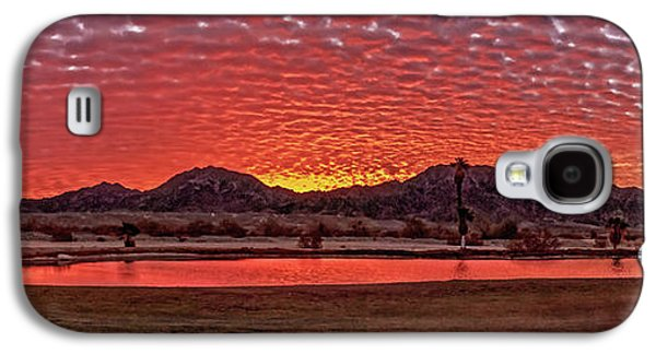 Haybale Galaxy S4 Cases - Panoramic Sunrise Galaxy S4 Case by Robert Bales