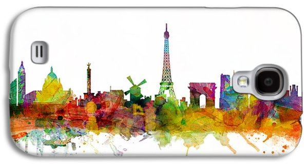 Tower Galaxy S4 Cases - Paris France Skyline Galaxy S4 Case by Michael Tompsett