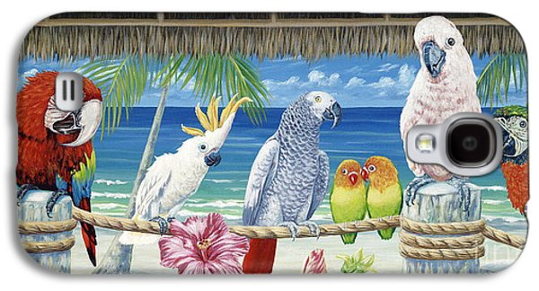 Parrots In Paradise Galaxy S4 Case by Danielle  Perry