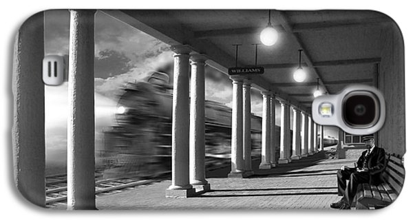 Walkway Digital Art Galaxy S4 Cases - Passing Through Galaxy S4 Case by Mike McGlothlen