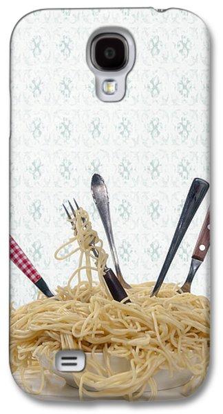 Spaghetti Galaxy S4 Cases - Pasta For Five Galaxy S4 Case by Joana Kruse