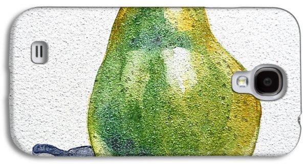 Pears Paintings Galaxy S4 Cases - Pear Galaxy S4 Case by Irina Sztukowski