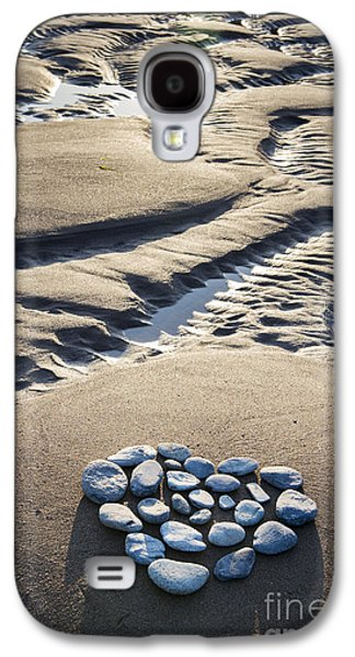 Pebbles Galaxy S4 Cases - Pebble Beach Heart Galaxy S4 Case by Tim Gainey