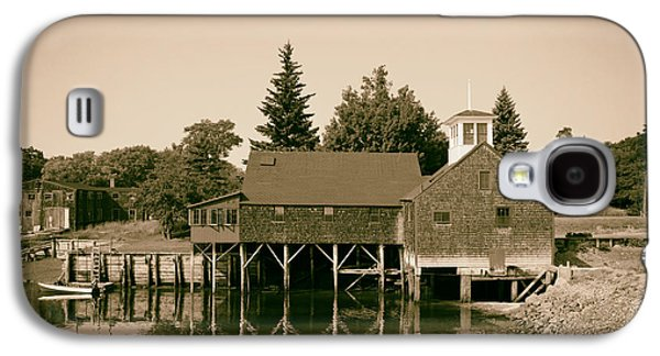 Old Maine Houses Galaxy S4 Cases - Perkins Tide Mill - Kennebunk Maine 1965 Galaxy S4 Case by Mountain Dreams