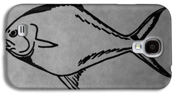 Gamefish Drawings Galaxy S4 Cases - Permit Galaxy S4 Case by Joann Renner