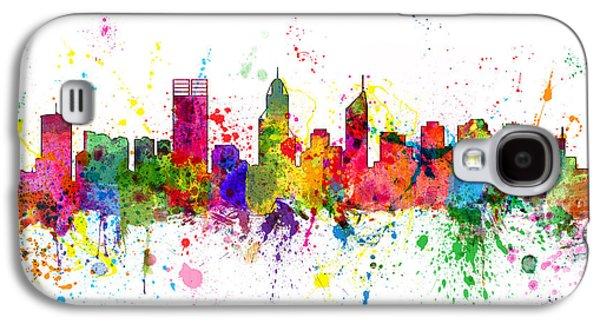 Western Digital Art Galaxy S4 Cases - Perth Australia Skyline Galaxy S4 Case by Michael Tompsett